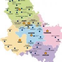 Carte Yonne par secteur