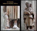 Saint-Florentin - Statue, pierre peinte, XVIe s.