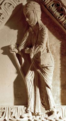 Sainte Magnance en pèlerine - XIIe s.
