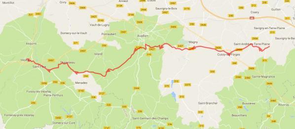 Voie de Gray à Vézelay